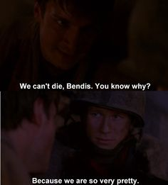 """""""We can't die, Bendis. You know why?"""" """"Because we are so very pretty."""" First scene of #Firefly [click to visit source]"""