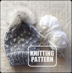 Hat Knitting Pattern. (Affiliate link)