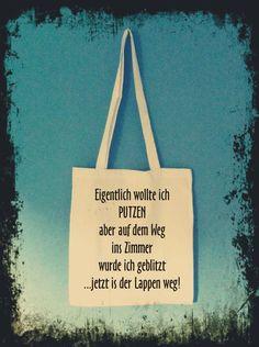 """Stoffbeutel - """"PUTZEN"""" - Stofftasche - ein Designerstück von odmomani bei DaWanda"""