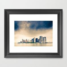 Manhattan Storm Framed Art Print by Cameron Booth - $33.00