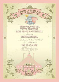 dumbo baby invitations - Google Search
