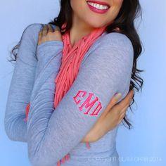 Glam Grab - Cutest Monogram Shirt Ever - Shoulder