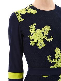 Dawn citrus flower embroidered dress   Preen   MATCHESFASHION.COM