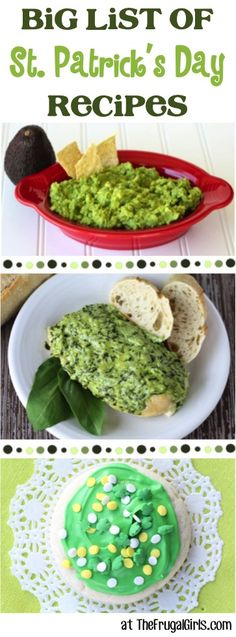 St. Patrick's Day Recipes - HUGE list of fun St Patricks Day Food! ~ from TheFrugalGirls.com ~ Go green all day long!