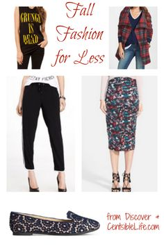 Fall Fashion for Less-fashion trends from runway to everyday