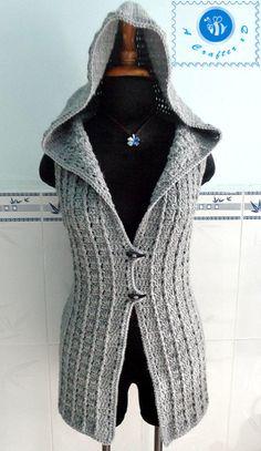 Crochet Hooded Sweater Free Pattern