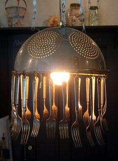 colander kitchen chandelier