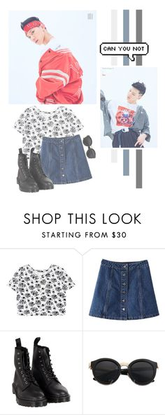 """Ten"" by lazy-alien ❤ liked on Polyvore featuring WithChic, Dr. Martens, ten, nctu and ChittaphonLeechaiyapornkul"