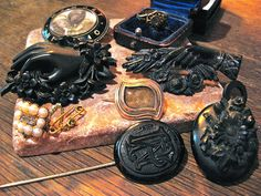 Victorian Mourning Jewelry                        by  lisby1