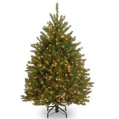 National Tree 45 Foot Dunhill Fir Tree with 450 Clear Lights Hinged DUH45LO -- You can find more details by visiting the image link. (This is an affiliate link)