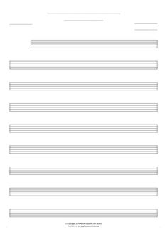 Free Blank Sheet Music sheet music by Jan Walter. Part: Notes for any instrument - large staves.