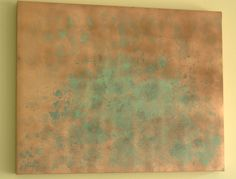 Large Copper Painting Recycle Canvas Painting - Kim's Corner DecorKim's Corner Decor