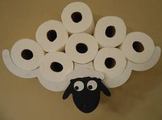 Toilet Paper Holder Unique Clever Sheep TP Rack Bathroom Decor