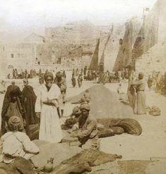 Bethlehem-بيت لحم: PALESTINE - Bethlehem, 1890s (early 20th c.) 32 - Selling wheat and barley in Nativity Church precinct