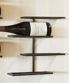 Four-Bottle Wall Wine Rack #zulily #zulilyfinds