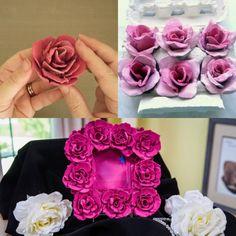 Mikor megláttam ezeket az ötleteket, a szavam is elállt! Nem tudtam, hogy ennyi minden készíthető tojástartókból! - Bidista.com - A TippLista! Cd Crafts, Recycled Crafts, Hobbies And Crafts, Decor Crafts, Diy And Crafts, Paper Crafts, Pine Cone Decorations, Diy Chandelier, Paper Flowers Diy