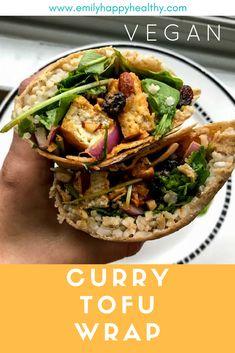 Vegan Curry Tofu Wrap. Easy & delicious recipe