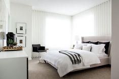 A stylish master retreat by professional interior designer, Natalie Fuglestveit Interior Design Modern Bedroom, Master Bedrooms, Ensuite Bathrooms, How To Make Pillows, Designer, Sweet Home, House Design, Interior Design, Retreat