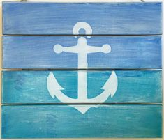 Anchor Wooden Sign Rustic Home Decor Wooden Pallets Nautical Wall Hanging Beach Decor Wedding Sign Coastal Decor Pallets Sign