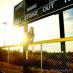 Love my idea of the score board in the background! #softball #photography #photoshoot