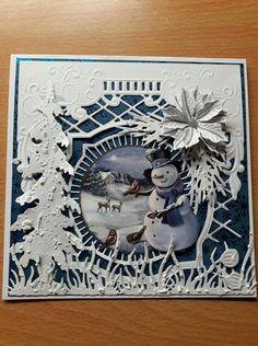 Christmas Cards 2017, Christmas Tag, Xmas Cards, Christmas Themes, Handmade Christmas, Fall Cards, Winter Cards, Poinsettia Cards, Snowman Cards