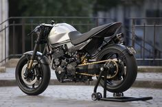 Cafe Thumper - Honda FX650 Vigor cafe racer ~ via returnofthecaferacers.com