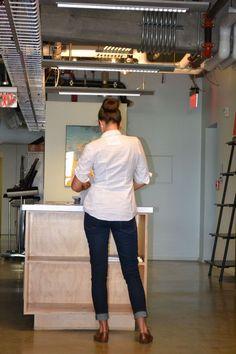 Photo shoot for Detroit design blog campaign.