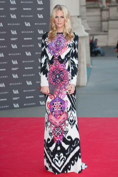 Poppy Delevingne// Emilio Pucci Dress// 'The Glamour of Italian Fashion´ party