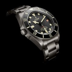 Introducing The Tudor Pelagos LHD, A Left-Handed 500 Meter Diver In Titanium With In-House Movement (Details, Pricing, Availability) Tudor Heritage Black Bay, Tudor Black Bay, Tudor Submariner, Rolex Submariner, Luxury Watches, Rolex Watches, Die Tudors, Cool Watches, Watches For Men