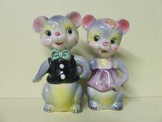Vintage Anthropomorphic Mr. & Mrs. Bear Couple Dressed Up Salt & Pepper #YM21896   Collectibles, Kitchen & Home, Kitchenware   eBay!
