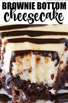 Brownie Bottom Cheesecake Brownie Bottom Cheesecake - So easy to make that you'll feel like you are cheating! Enjoy the rich chocolate brownie bottom layer topped with a creamy and sweet cheesecake filling. Use a brownie mix to save on time! Cheesecake Brownies, Cheesecake Desserts, Köstliche Desserts, Chocolate Cheesecake Recipes, Brownie Mix Desserts, Simple Cheesecake, Brownie Mix Recipes, Layer Cheesecake, Best Chocolate Desserts
