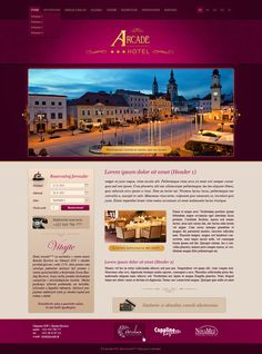 Web dizajn pre hotel Arcade v Banskej Bystrici Arcade, Lorem Ipsum, Web Design, Design Inspiration, Marlow, Marketing, Design Web, Website Designs, Site Design