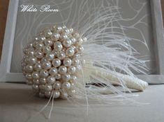 Wedding pearl bouquet bride brooch bouquet, $250.00