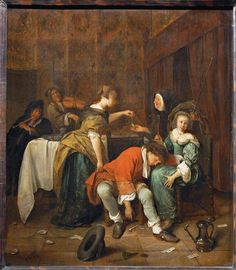 Jan Steen, Robbery in a Brothel, ca 1665-1668, Musée du Louvre, Paris