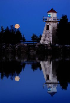 Photograph Lunar Lighthouse by Peter Baumgarten on Dark Places, Places To See, Manitoulin Island, Beacon Of Light, Beautiful Places, Amazing Places, Nature Photography, Holland, Scenery