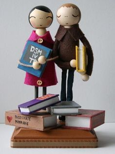 Bookish Wedding Cake Topper. @Heather Lipman - thought of you when I saw this.