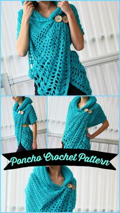 Crochet Poncho Patterns, Crochet Shawls And Wraps, Crochet Cardigan, Crochet Scarves, Crochet Clothes, Crochet Hats, Crochet Sweaters, Crochet Woman, Diy Crochet