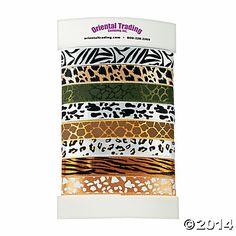 Animal Print Ribbons - Oriental Trading