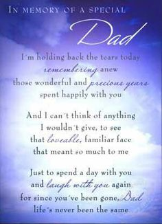 In memory of a special Dad
