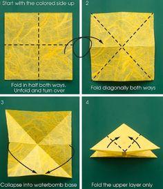 Beschrijving van origami vlinder. Deel 1