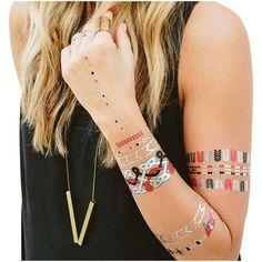 Tampa Bay Buccaneers Metallic Fashion Tattoos - $11.99
