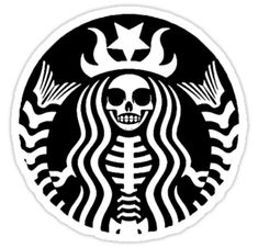 """Starbucks - Death"" Stickers by catkoebsch Arte Starbucks, Starbucks Logo, Starbucks Siren, Vinyl Crafts, Vinyl Projects, Circuit Projects, Arte Cholo, Aesthetic Stickers, Silhouette Cameo Projects"