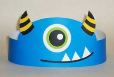 Monster Paper Crown Printable by PutACrownOnIt on Etsy Monster 1st Birthdays, Monster Birthday Parties, Birthday Party Favors, Fall Crafts, Halloween Crafts, Diy And Crafts, Arts And Crafts, Monster Party, Diy For Kids