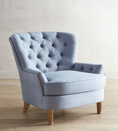Tufted Blue Armchair