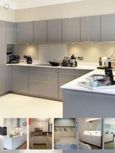 Kitchen Ideas New House, Open Plan Kitchen Living Room, Kitchen Family Rooms, Home Decor Kitchen, Kitchen Interior, New Kitchen, Kitchen Units, Kitchen Tiles, Kitchen Cabinets