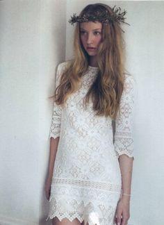 Kitsch Bitsch vintage cotton crochet lace boho bridesmaid mini dress $587.00 AUD // @whitemagazine