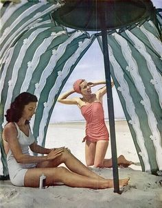 where can you find an umbrella like this one?  swimsuits 1947