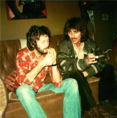 """Tanque y rol"" le dice George Harrison a Eric Clapton"