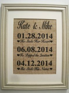 Burlap Wedding,Personalized Burlap Wedding,Burlap Wedding Love Story,Burlap Wedding Print,Burlap Wedding Monogram,Burlap Wedding Est Date