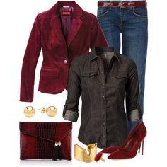 """""""Blaze'n Blazers!"""" by angela-windsor on Polyvore (but with boots for me)"""